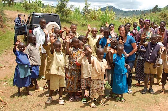 Katie Schneider in Africa for Fair Trade USA